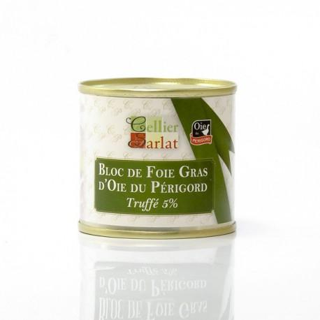 Bloc de Foie Gras d'Oie Origine Périgord Truffé 5%, 100g
