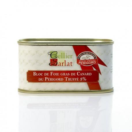 Bloc de Foie gras de Canard Truffé 130gr