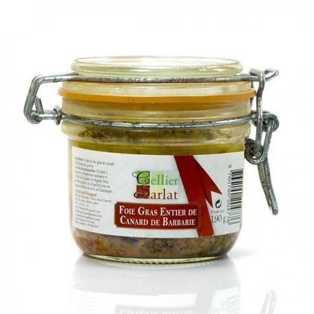 Foie gras entier de canard de Barbarie, 190gr