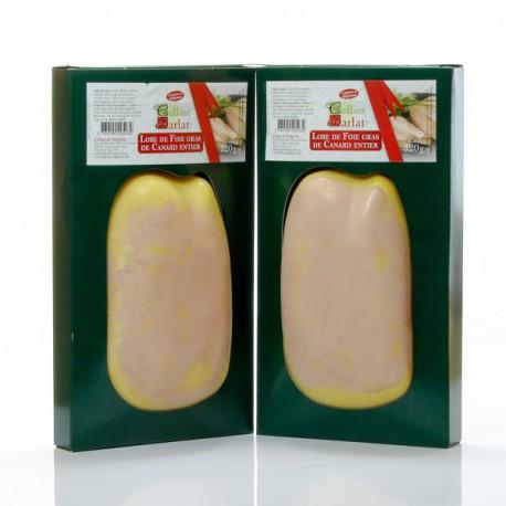 Lot de 2 lobes de foie gras de canard mi-cuit, 2x320g