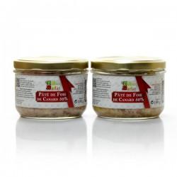 Lot de 2 bocaux de Pâté de Foie Gras de Canard 190g
