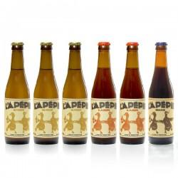 Lot de Bières artisanales du Périgord Brasserie Lapépie, 6x33cl