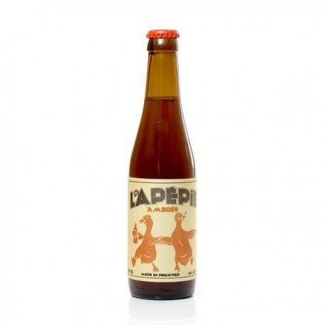 Bière ambrée artisanale du Périgord Brasserie Lapépie, 33cl