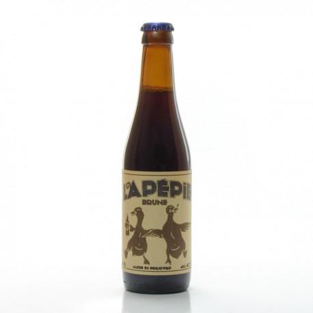 Bière brune artisanale du Périgord Bio Brasserie Lapépie, 33cl