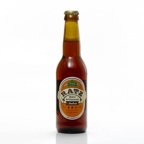 Bière ambrée artisanale du Quercy Brasserie Ratz, 33cl