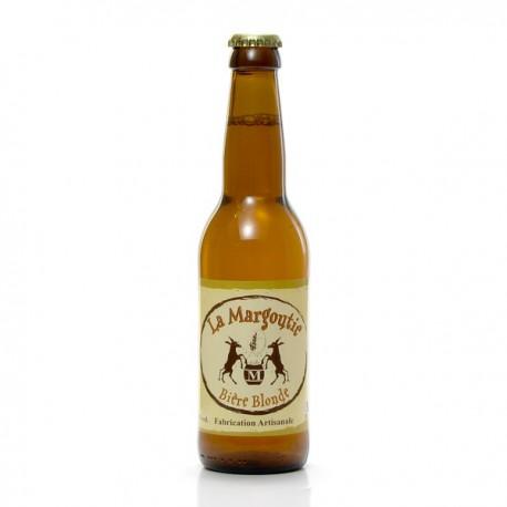 Bière blonde artisanale du Périgord Brasserie Margoutie, 33cl