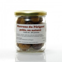 Marrons pelés au naturel 260g