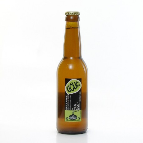 Biere blonde kiclac brasserie gaillarde 33cl