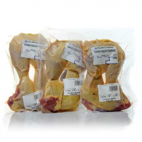 Lot de 6 Cuisses de poulet fermier 3x2 soit env 1800g