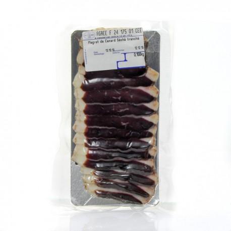Plaque de magret de canard seche tranche 80g