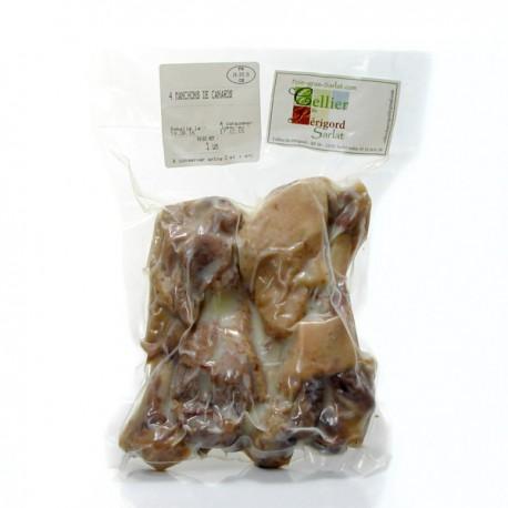 Manchons de canard confit par 4 sous vide 550g +/- 50g