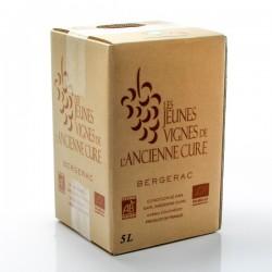BIB Vin AOC Bergerac rouge Bio Les Jeunes vignes de l'Ancienne Cure 5L