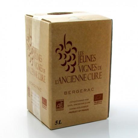BIB Vin AOC Bergerac Rosé BIO Les Jeunes vignes de l'Ancienne Cure 5L
