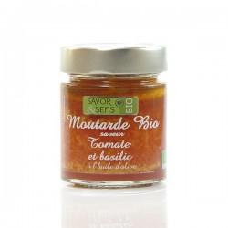 Moutarde Bio saveur tomate et basilic à l'huile d'olive bio, 130g