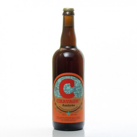 Bière ambrée artisanale Brasserie Chavagn, 75cl