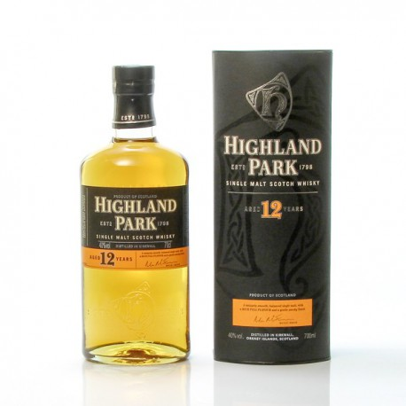 Whisky Ecosse Highland Park 12ans Single Malt Scotch 40° 70cl