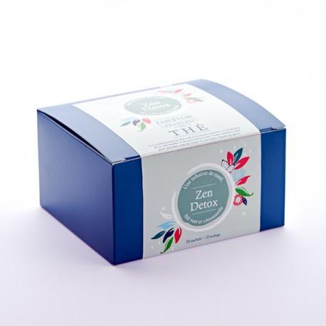 Infusion mate et thé vert Zen Detox Boite de 20 sachets