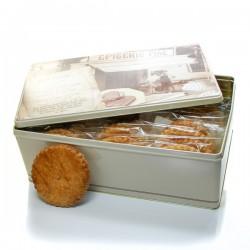 Boite à biscuits 30 sablés artisanaux à la myrtille 30x50gr soit 1500gr