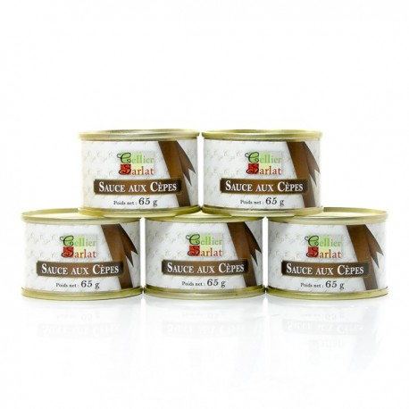 Lot de 5 sauces aux cèpes 5 x 65g