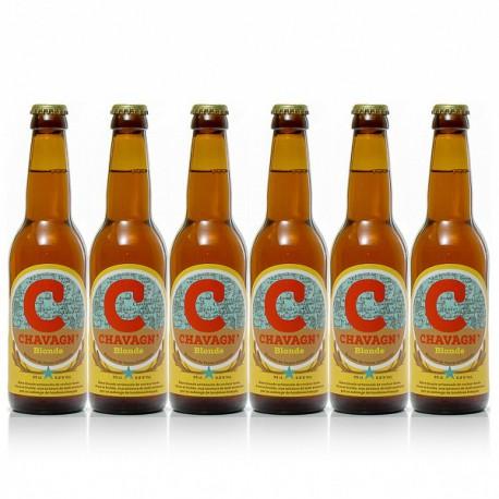 Lot de 6 bières blondes artisanales Chavagn' 6x33cl