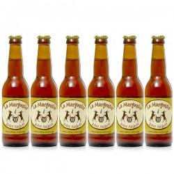 Lot de 6 bières ambrées artisanales du Périgord Brasserie Margoutie 6x33cl
