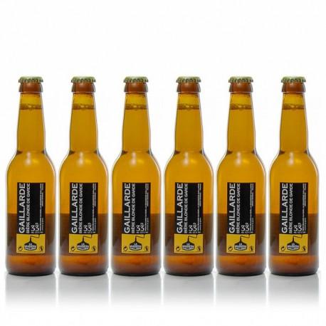 Lot de 6 bières blondes brasserie Gaillarde 6x33cl