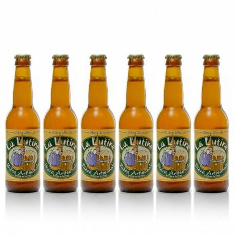 Lot de 6 bières blondes artisanales du Périgord Brasserie La Lutine 6x33cl