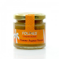 Compote pomme ananas passion folines 120g