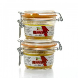Lot de 2 foies gras entiers de canard 2 x 120g