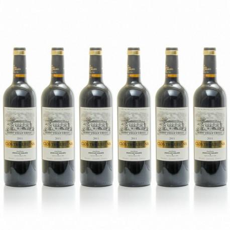 Lot de 6 bouteilles Clos Triguedina AOC Cahors 2012 75cl