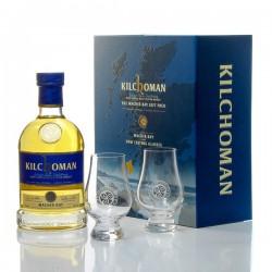 Whisky Ecosse Kilchoman Machir Bay Coffret 2 verres Single Malt Scotch 70cl