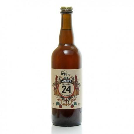 Bière brassée 24 ambrée Brasserie Artisanale de Sarlat 75cl