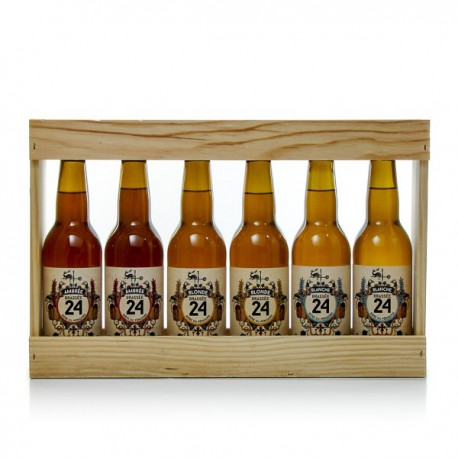 Tiers de mètre en bois de 6 bières brassées de Sarlat 6 X 33cl