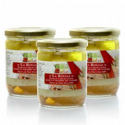 Lot de 3 Cailles confite farce royale au foie gras, 3x350g