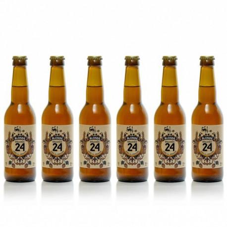 Lot de 6 bières brassées 24 blondes Brasserie Artisanale de Sarlat 33cl