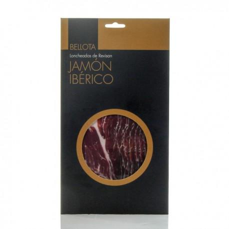 Jambon ibérique de Bellota sous vide coupé au couteau 100g