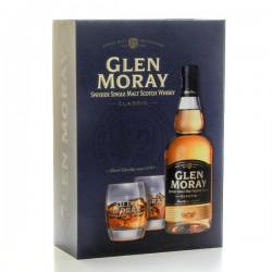 Whisky Ecosse Glen Moray Classic Coffret et 2 verres Single Malt Scotch 40° 70cl