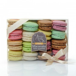 Coffret 16 macarons frais artisanaux Lucy Borie 330g