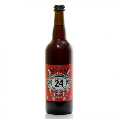 Bière d'hiver Brassée 24 Brasserie Artisanale de Sarlat 75cl