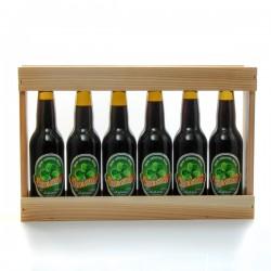 1/3 de mètre en bois 6 bières artisanales St Patrick Brasserie Ratz 33cl