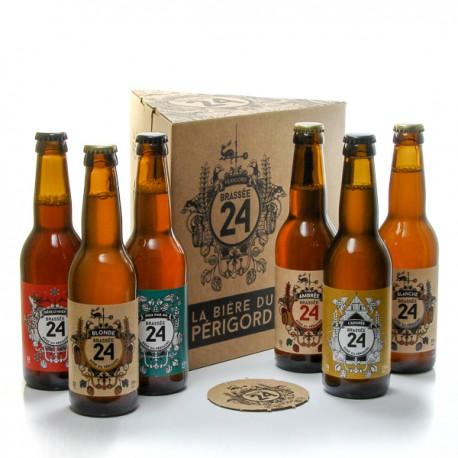 Coffret assortiment de 6 bières Brasserie Artisanales de Sarlat 6x33cl