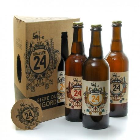 Lot Bières Brasserie Artisanale de Sarlat et Sous-bock, 3x75cl