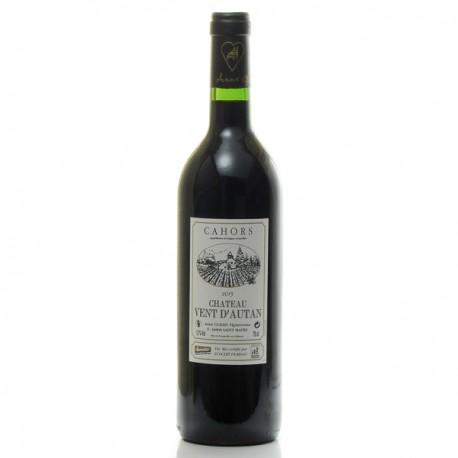 Château Vent d'Autan, AOC Cahors, vin biodynamique, 2015, 75cl