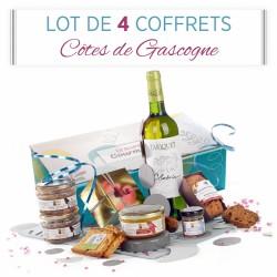 Lot de 4 Coffrets Côtes de Gascogne