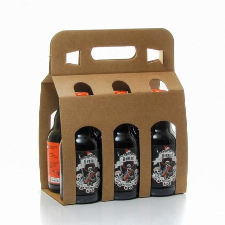 Lot de 6 Bières ambrées Hombre Brasserie BAM, 33cl soit 198cl