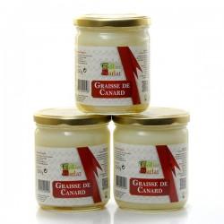 Lot de 3 bocaux de graisse de canard 3x340 g soit 1.02kg