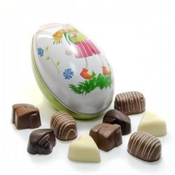 Oeuf de Pâques assortiment de chocolats Belges 120 g