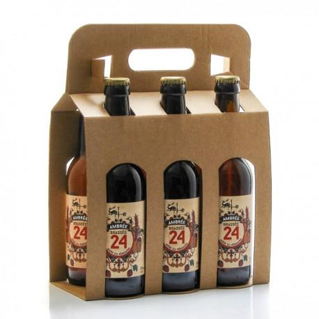 Pack de 6 bières Brassée 24 Ambrées Brasserie Artisanale de Sarlat 6x33cl