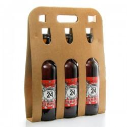 Pack de 3 bières Brassée 24 Bière d'Hiver de la Brasserie artisanale de Sarlat 3x75cl