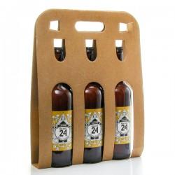 Pack de 3 bières Brassée 24 L'Adorée de la Brasserie artisanale de Sarlat 3x75cl